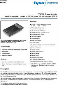 Fc250r Datasheet Power Module Dc Dc Converter 18 Vdc To