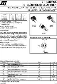 Stmicroelectronics STB55NF06L N-Kanal Mosfet 55 A 60 V Stripfet II 3-Pin